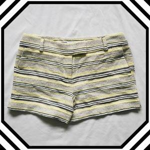LOFT Riviera Short Linen Blend-Yellow Black &White